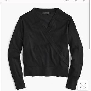 NWOT J. Crew Merino Wool Wrap Pullover Sweater